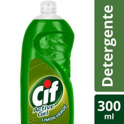 Lavavajilla Cif Active Gel C G Limon Verde X 300Ml