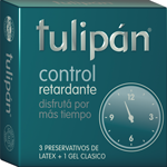 Preservativos Tulipan X3 Retard Turquesa