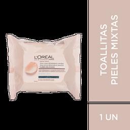 Toallitas Desmaquillantes Piel Mixta L´Oréal Paris Skin X25Un