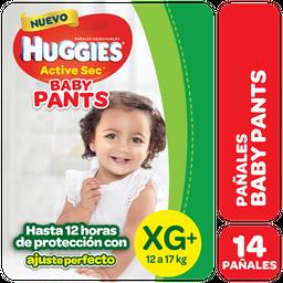 Pañal Huggies Act Sec Pants Mega Pack Xg X 14 Unidades