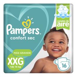 Pampers Confort Sec XXG Pañales Desechables 16 Unidades