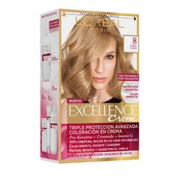 Tintura Permanente Excellence Creme De L'Oréal 8 Rubio X47Gr