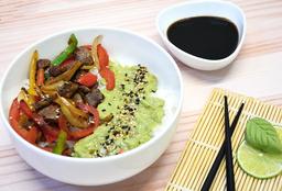 Chirashi Salad Lomo, Mix Verduras y Guacamole