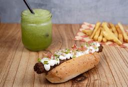 Hot Dog Falafel + Papas