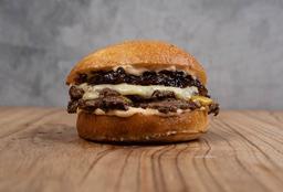 Hamburguesa con Azul, Cheddar & Cebolla - Doble Carne & Queso