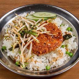 Milanesa de Tofu Vegana con Arroz