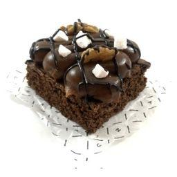 Cuadrado de Brownie con Dulce de Leche