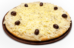Pizza de Fugazzeta y Muzza