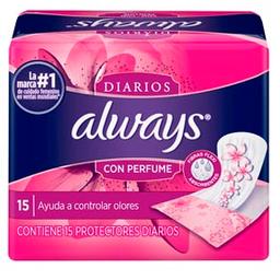 Combo 2U Protectores Diarios Always Control De Olores 15 U
