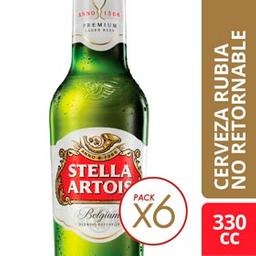 Combo 2 Unidades Cerveza Stella Artois 330 Ml - Pack 6