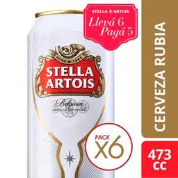 Combo 2 Unidades Stella Artois 473 Cc X 6 - Cerveza Rubia Lata