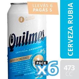 Combo 2 Unidades Cerveza Quilmes Clásica Lata 473 Cc Six Pack