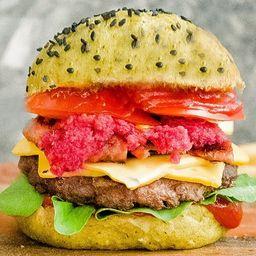Green Burger con Papas Fritas