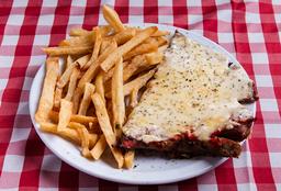 Matambrito De Ternera A La Pizza + Guarnición