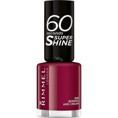 Rimmel Esmalte 60 Secsuper Shine Berries And Cream 340 X 8Ml