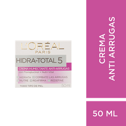 Crema Anti Arrugas L´Oréal Paris Hidra Total 5 X 50Ml