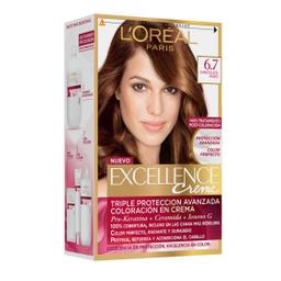 Tintura Permanente Excellence Creme De L'Oréal 67 Chocolatex47Gr