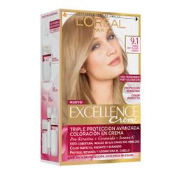 Tintura Permanente Excellence Creme De L'Oréal 91 Rubio X47Gr
