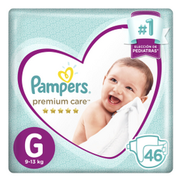 Pañales Pampers Premium Care Grandes 46 U