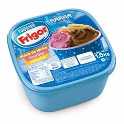 Helado Friogor Vainilla - Dulce de Leche - Frutilla 1.5 Kg
