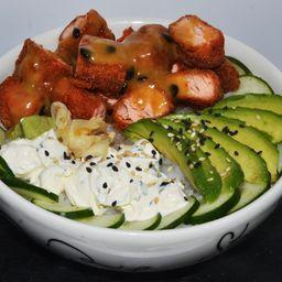Sake Panko Salad