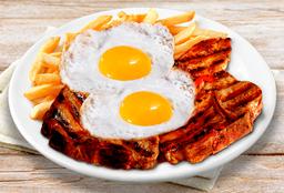 Costillitas de Cerdo + Papas Fritas y Huevo Frito