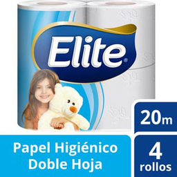 Papel Higiénico Elite Doble Hoja 20 m 4 U