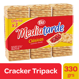 Galletitas Clasicas Mediatarde Pack 3 Un 330 Gr