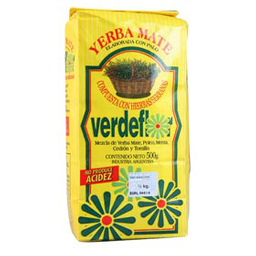 Verde Flor Yerba Mate Compuesta Con Hierbas Serranas