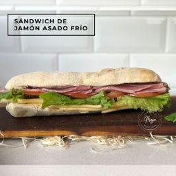 Sándwich Frío de Jamón Asado
