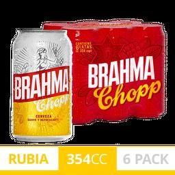 Cerveza Brahma Chopp 354Ml X 6