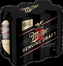 Cerveza Miller Lata 473Ml 6-Pack