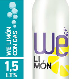 We Agua Saborizada Con Gas Limón