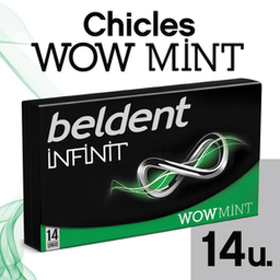 Chicle  Beldent Infinit Wow Mint x 26.6 G