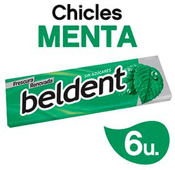 Chicle  Beldent Menta x 10 G