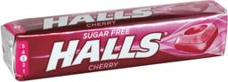 Pastilla  Halls Free Cherry x 20 G