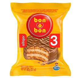 Alfajor  Bon O Bon Triple Choco x 60 G