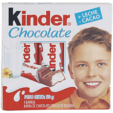 Chocolate  Kinder con Leche x 50 G