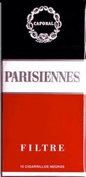 Cigarrillo  Parisiennes Picc 10 Box x 10 U