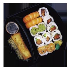 Sushi Salmón & Bebida