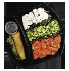 Sushi Salad & Bebida