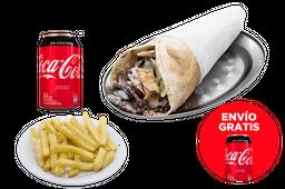 Envío Gratis: Shawarma + Papas + Coca-Cola Original