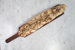 Pizza con Provolone & Champignones