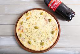 Mozzarella Grande + Coca Cola de 1.5 Lts