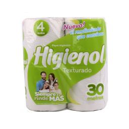Papel Higiénico Higienol Hoja Simple Texturado