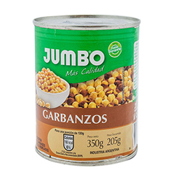 Garbanzos En Conserva Jumbo 350 Gr