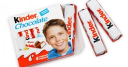 Kinder barra chocolate pack x 4 unidades