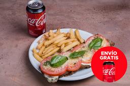 Envío Gratis: Milanesa Capresse + Coca-Cola sin Azúcar