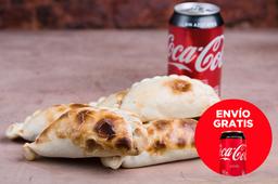 Envío Gratis: 1/2 Docena de Empanadas  + Coca-Cola sin Azúcar