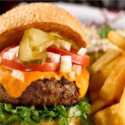 Smoked Stuffed Burger & Fries